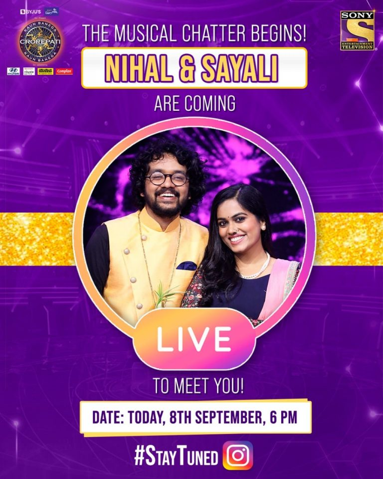 LIVE conversation with Idol Nihal and Idol Sayali, today at 6 PM and hear all about their KBC experience